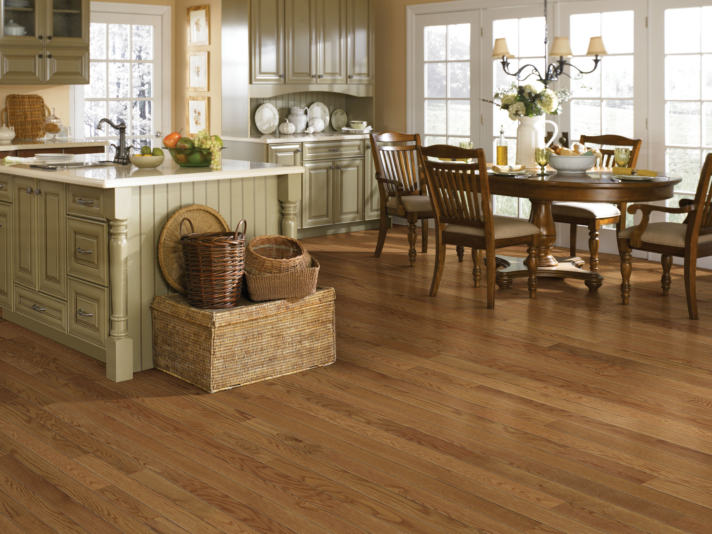 Hardwood2 san diego carpet window treatments blinds and for Kitchen dining room flooring