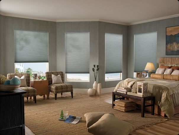Gray Honeycomb Shades San Diego Carpet Window Treatments